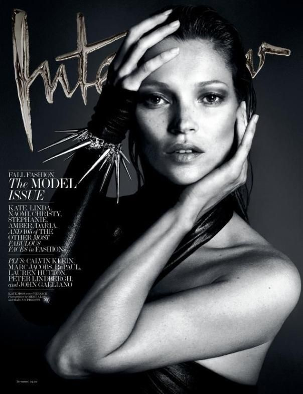 Kate Moss by Mert Alas & Marcus Piggott for Interview Magazine September 2013