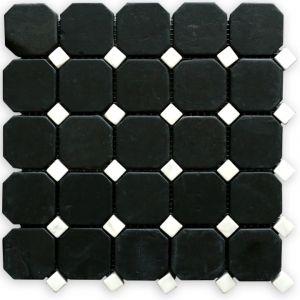Macedonian Black, Ariston White mozaika_łazienkowa_mosaic_athena_czarna_biała_kamienna_mosaico_warszawa