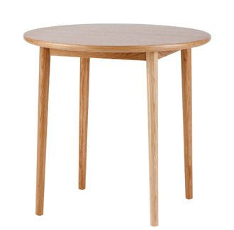 Prop Round Table. Made in Poland, European beech timber dining table.