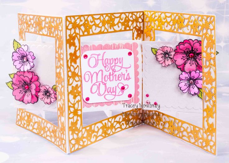 So has it Monday I can put my card I have made for my mum yesterday.               So I have used accordion square die from Crafter Com...