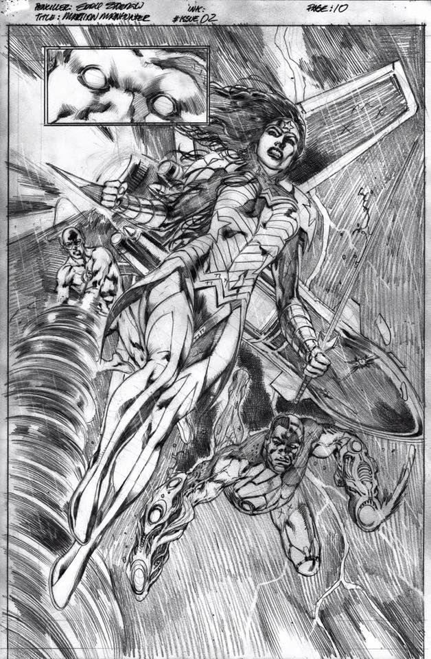 Martian Manhunter #2 p.10 - Wonder Woman by Eddy Barrows *