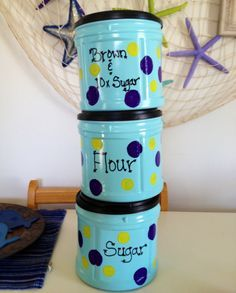 Reusing Plastic Coffee Cans | ThriftyFun| ThriftyFun If you buy coffee in the large plastic canisters, you can go online to the Folger's website, and print off holiday templates to glue over the existing labels. Description from pinterest.com. I searched for this on bing.com/images