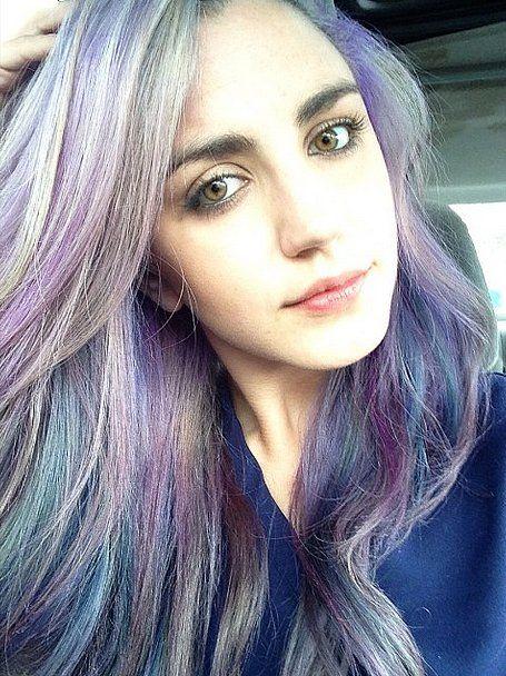 The Secret Rainbow Hair Dye Trend — Surprise Hair Color ...