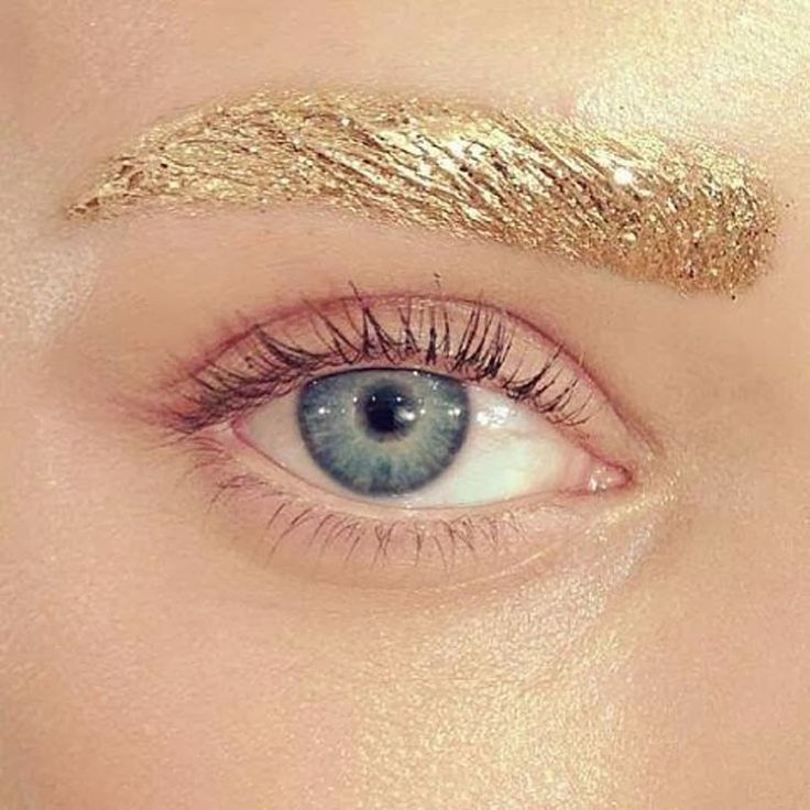 Raf Simons for Christian Dior ss14 beauty, gold eyebrows by Pat McGrath