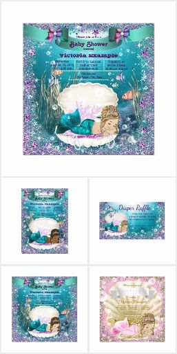 Mermaid Baby Shower Collection