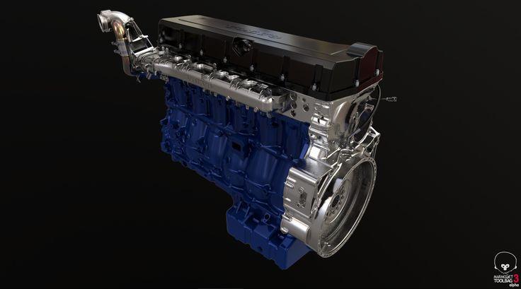 ArtStation - Volvo Truck Engine Assembly, Jordan Cain