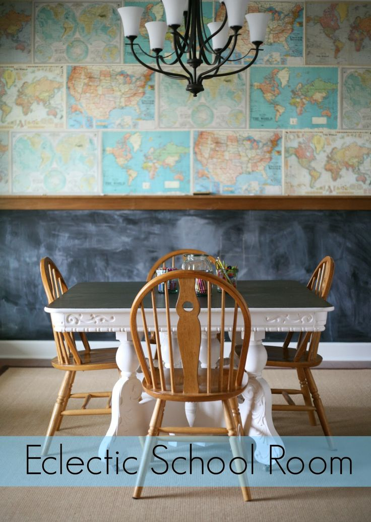 The Quick Journey: Details // Eclectic School RoomHomeschool Spaces, Schools Room, Classroom Decor, Maps Wall, Eclectic Homeschool, Quick Journey, Homeschool Room, School Rooms, Eclectic Schools