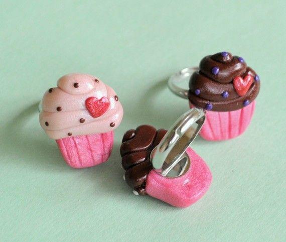 polymer clay cupcake rings
