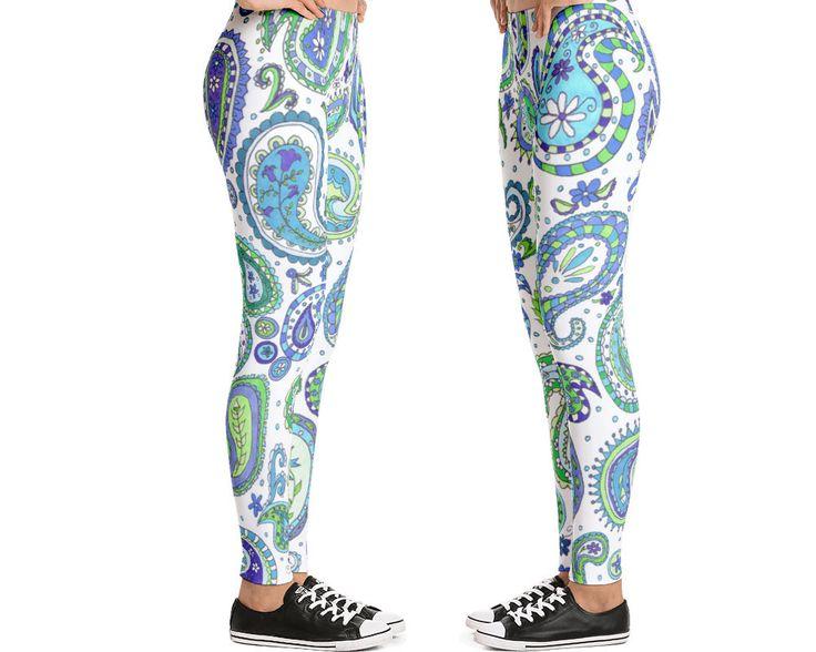 Yoga Leggings Paisley Print Leggings for Women
