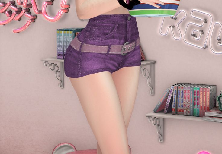 50% discount at MOoH! / Wear your group tag! /  Get this cute high-waist shorts at the MOoH! in-world store / For more information, updates and useful links, checkout the MOoH! website: http://moohfashion.weebly.com/