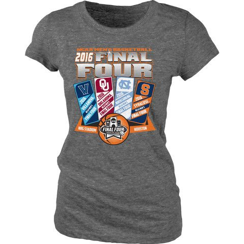 2016 NCAA Final Four March Madness Basketball Houston Ticket Women T-Shirt