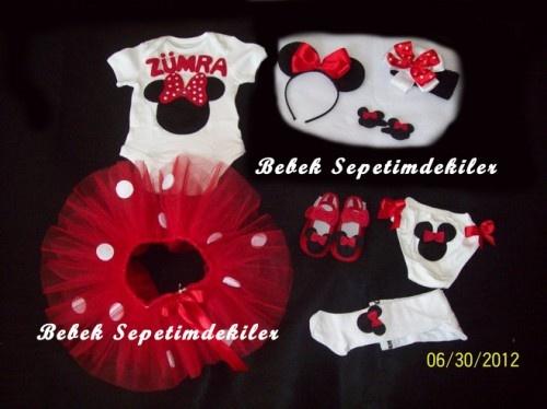Minnie Mouse 8 parçalı Tütü Takımı