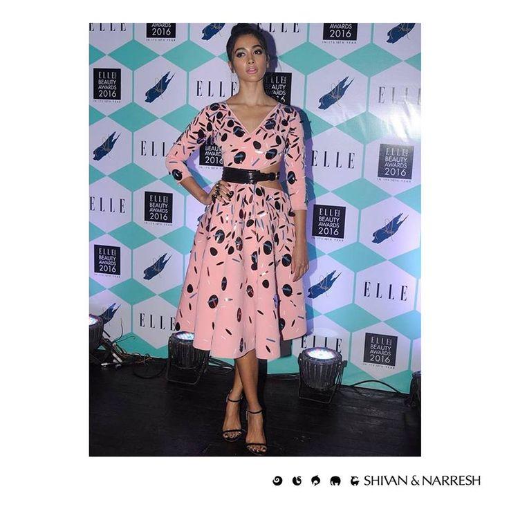 Pooja Hegde (@hegdepooja) dazzles in #ShivanAndNarresh Coralbay #GalacticBurst Dress at #ELLEBeautyAwards2016 (@elleindiaofficial) at St. Regis Mumbai | Styled by Aastha Sharma (@aasthasharma612) | #PoojaHegde #CelebStyle #Bollywood #Celebrities #HenrisAffair