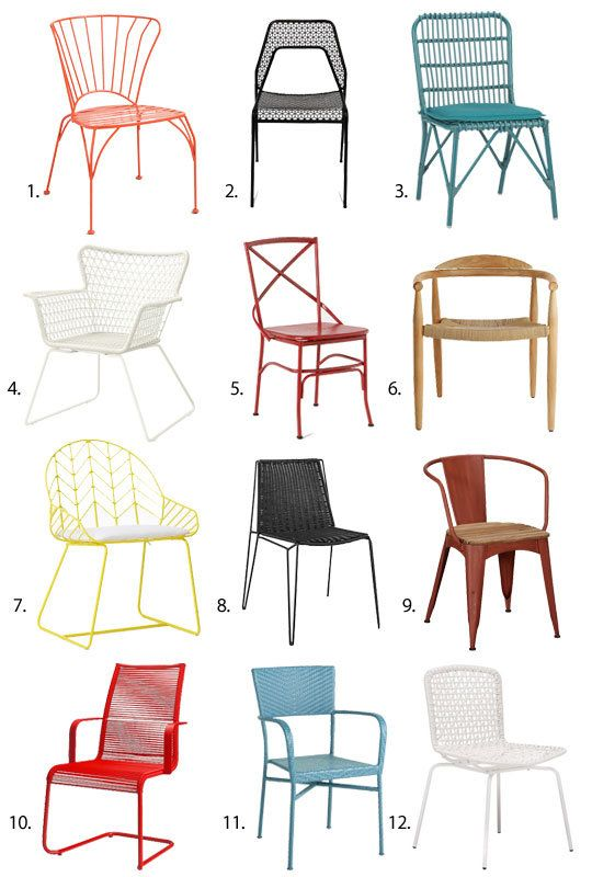 Get outdoors! So many great outdoor seating options from Apartment Therapy, including our Hot Mesh.