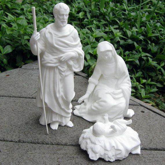Vintage Lenox Nativity Set In White Bone China Nativity