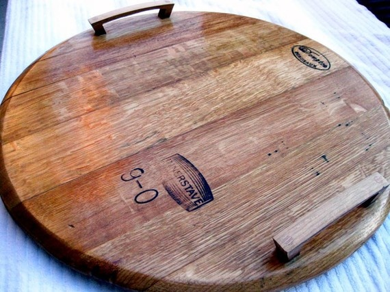 Wine Barrel Tea Tray Lazy Susan Reclaimed Wine Barrel Pinterest