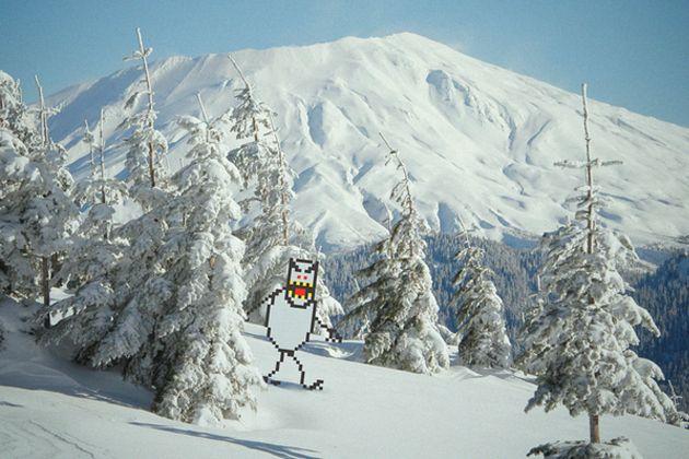 Snow monster...