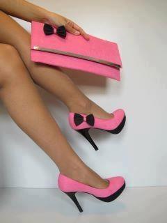 pink heels and clutch bag - 52% OFF
