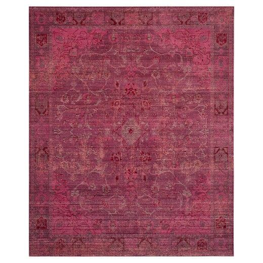 • Durable 100% polyester fiber<br>• Jute backing<br>• Machine-loomed construction<br>• Indoor use<br><br>Update any room in the house with the Safavieh Valencia Rug. Perfect for the living room, dining room or TV room, friends and family will delight in the beautiful and intricate design. The rich colors will dress up your home in a flash, while the distressed finish makes it look like a vintage family heirloom. Easy care vacuu...