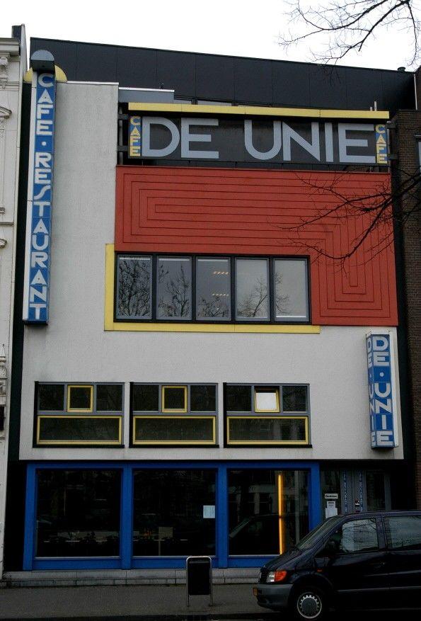 Chapter 23 DeStijl: Cafe De Unie, (1924-1925) Rotterdam, Netherlands. Architect: J. J. P. Oud