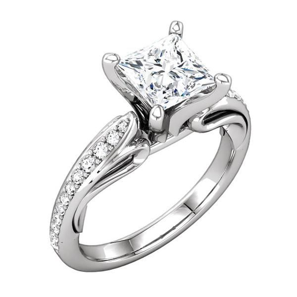platinum engagement base sculptural semi mount ring with