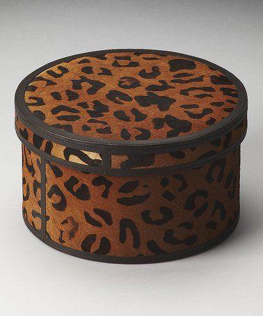 Love this Medium Cheetah Storage Box on #zulily! #zulilyfinds