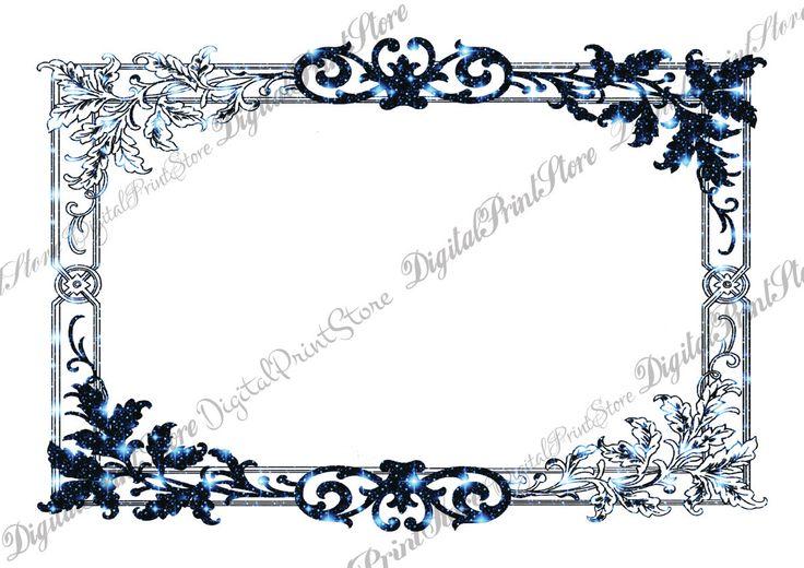Modern Chalkboard Frame Victorian Border 008 Ornate Scrapbooking Commercial Use by DigitalPrintStore on Etsy