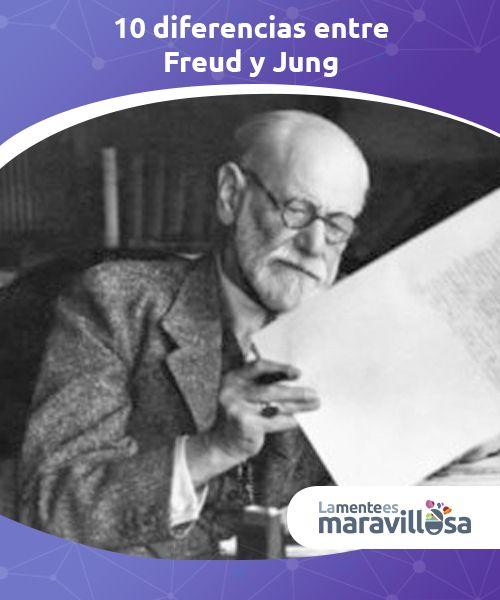 10 diferencias entre Freud y Jung Las diferencias entre Freud y Jung son interesantes porque, #paradójicamente, en los inicios coincidían en #pensamientos y #planteamientos teóricos. #Autores