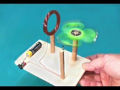 how to make a simple motor out of spinner - youtube