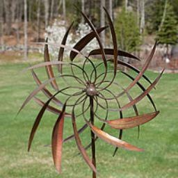 Pinwheel-- Kinetic art, over 6' tall and spins in two different directions.