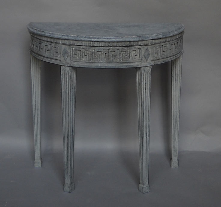 Small demilune table with single drawer in the empire ...
