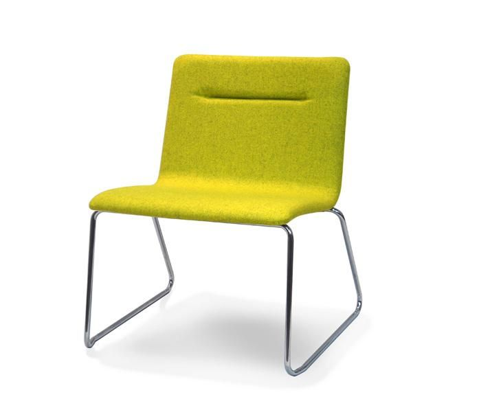 Bria | UCI Lounge seating.  Stainless steel tube base, available in bright chrome or powder coated in any colour. uci.com.au