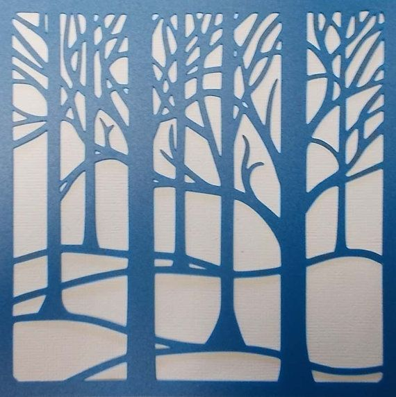 Forest Trees by kraftkutz on Etsy