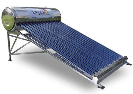 Emprosol es un Calentador Solar Comapny en México, que fabrica varios calentadores solares como la gravedad, la pipa de calor, de panel plano, boiler solar, calentador solar industrial, etc. Para comprar calentador solar a precios razonables visitan Emprosol.