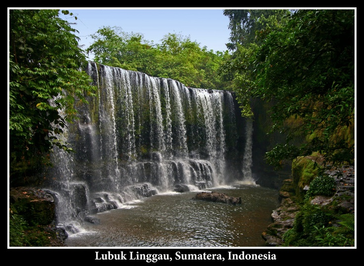 """Mini Niagara"" Temam Waterfall, Lubuk Linggau 