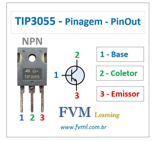 Pinagem Pinout Transistor Npn Tip3055 Caracteristicas
