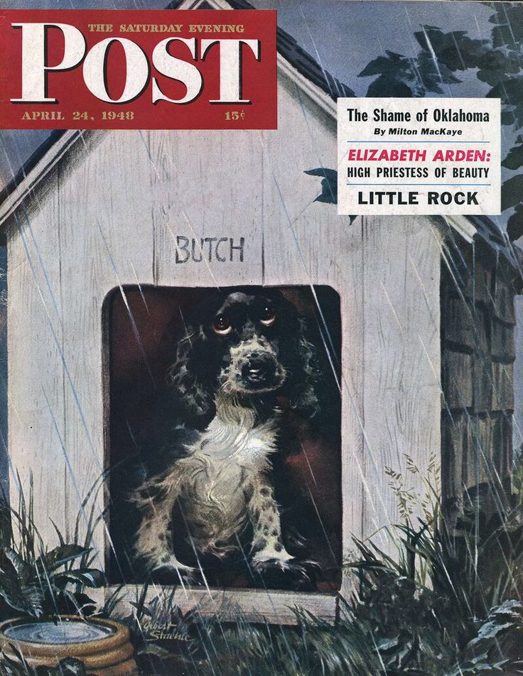 In the Doghouse. Saturday Evening Post, April 24, 1948 (Albert Staehle)