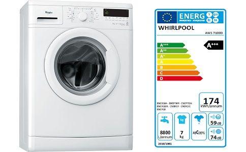 Masina de spalat rufe Slim Whirlpool AWS 71000, 6th Sense Colours, 7 Kg, 1000 RPM, Clasa A+++ MAsina de spalat Whirlpool AWS 71000 dispune de un display LCD care te va ajuta in alegere mai usoara a programelor din cele 15 pe care aceasta le are. Produsul nostru are la baza si cateva programe speciale: program pentru bumbac/antibacteria, albe & deschise, negru & culori inchise.