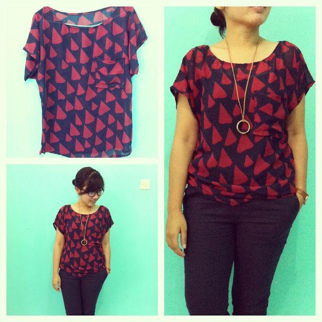 triangle loose blouse