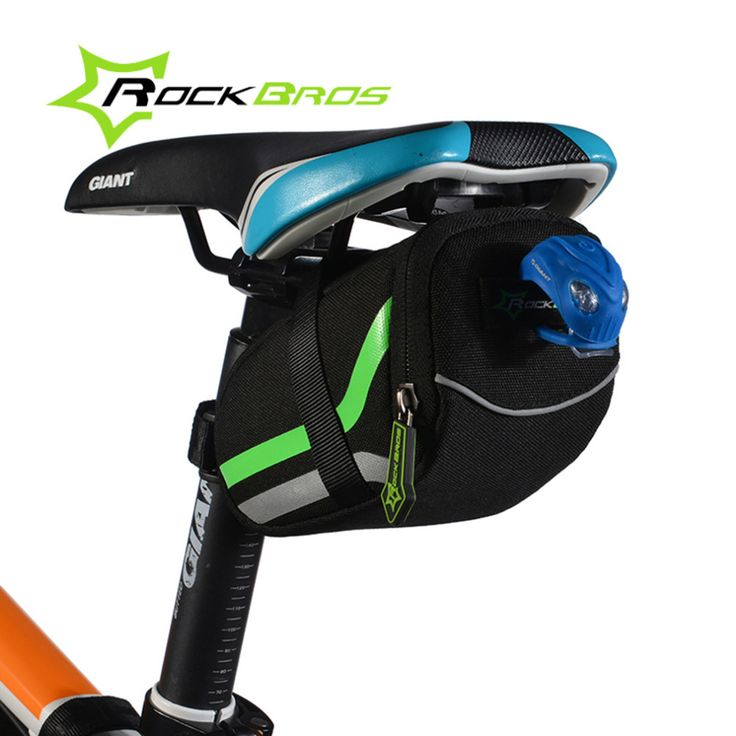 ROCKBROS MTB Outdoor Cycling Back Seat Bicycle Rear Bag Rainproof Nylon Bike Saddle Bag Tail Pouch Package Bicycle Accessories