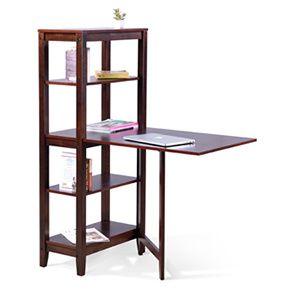 Baxter Folding Study/Dining Table (Dark Walnut Finish)
