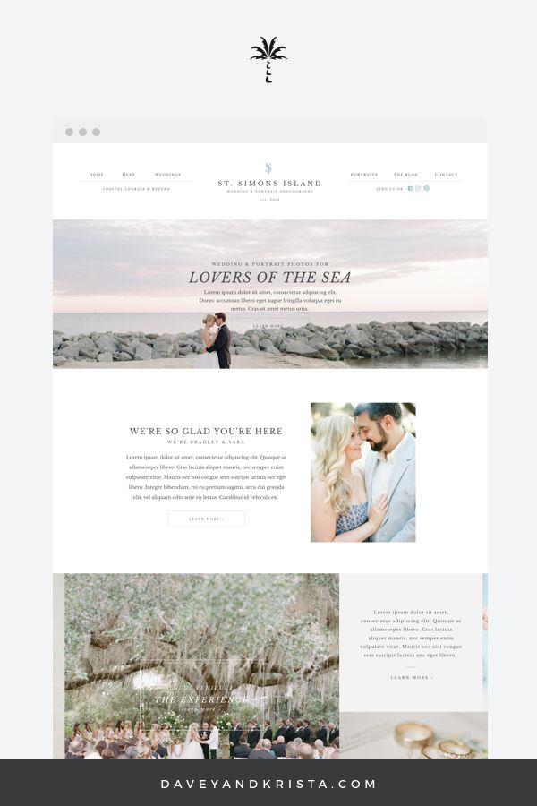 St Simons Island Website Templates For Photographers
