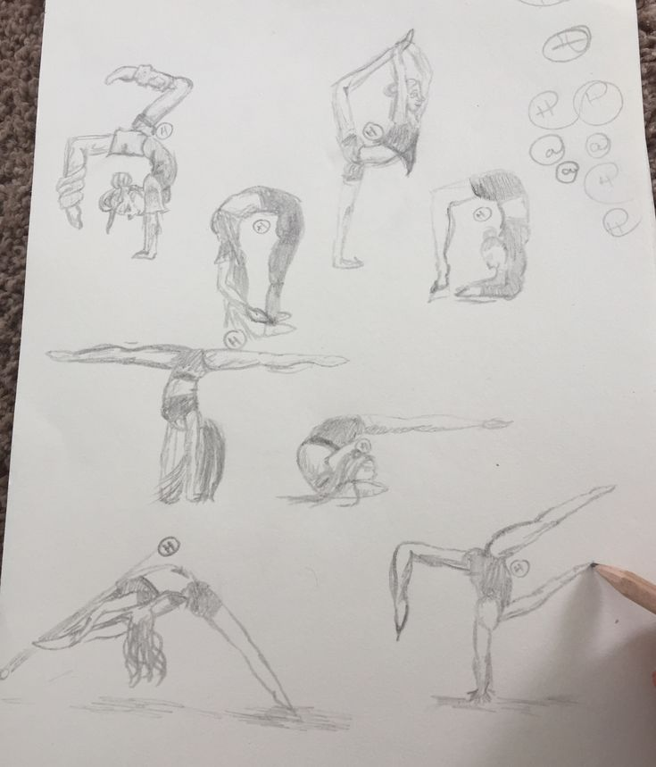 Gymnastics girls ( drawing )