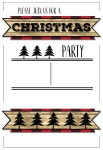 christmas party invitation templates free printable little men s