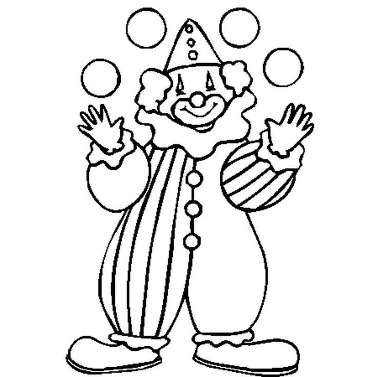 Coloriage clown en Ligne Gratuit à imprimer | Coloriage clown, Coloriage, Page de coloriage
