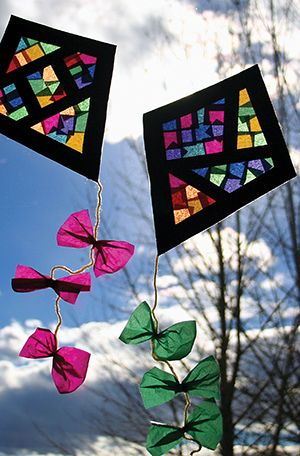 This bright and fun window kite isperfect for a class party or year end activity. Plus it is simple and mess free. What more could you ask for?