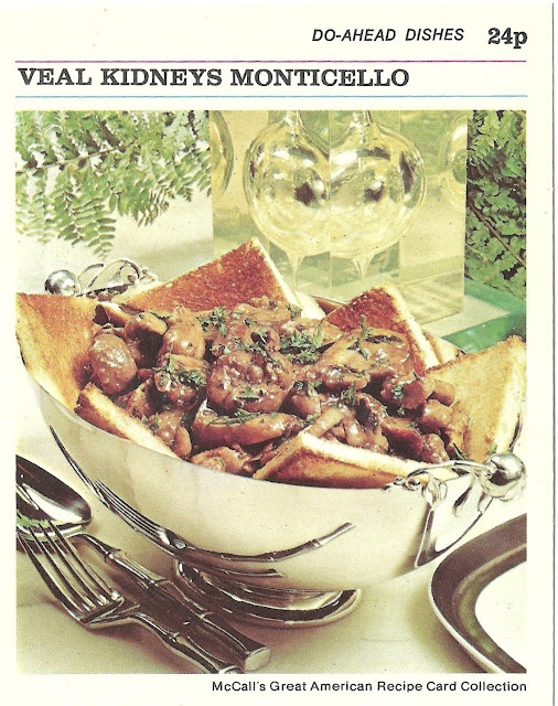 976 best vintage recipe horror images on pinterest retro recipes veal kidneys monticello mccalls great american recipe card collection 1973 food cardsretro forumfinder Gallery
