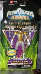 Amazon.com: Power Rangers Super Legends: LIGHTSPEED RESCUE Titanium Rescue Ranger: Toys & Games