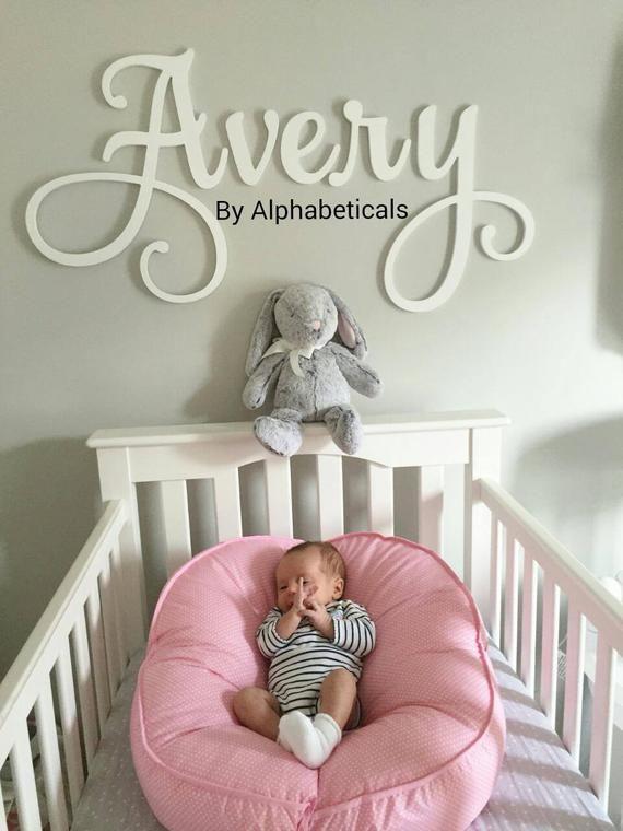 Alphabeticals Nursery Name Sign Boy Custom Wooden