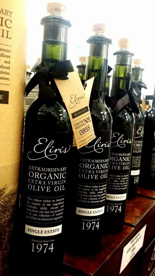 Eliris extra virgin olive oil on display at Jones the Grocer Singapore. Photo credit: Celestino Enrico